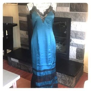 Lovers + Friends Satin Lace Maxi NWOT